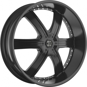 "28"" 2Crave Wheels No.4 Satin Black Rims"