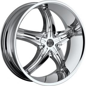 """22x8.5"""" 2Crave Wheels No.5 Chrome Rims"""