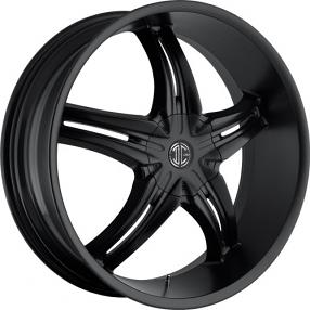 "22x8.5"" 2Crave Wheels No.5 Satin Black Rims"