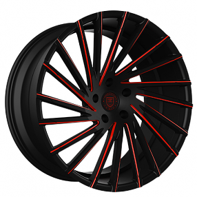 "22"" Staggered Lexani Wheels Wraith Custom Color Rims"