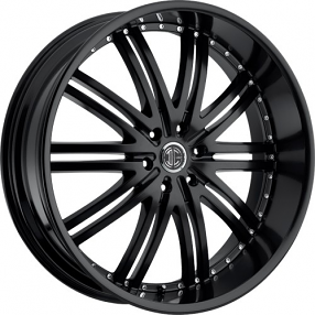 "24"" 2Crave Wheels No.11 D1 Satin Black Rims"