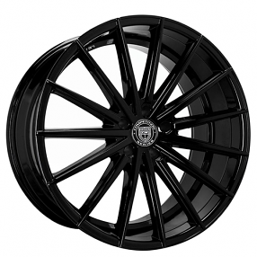 "22"" Staggered Lexani Wheels Pegasus Gloss Black Rims"