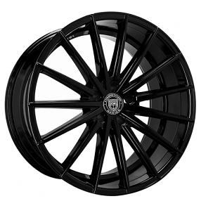 "22"" Staggered Lexani Wheels Pegasus Gloss Black Rims"