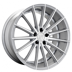 "22"" Staggered Lexani Wheels Pegasus Silver Machined Rims"