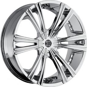 """24"""" 2Crave Wheels No.12 Chrome Rims"""