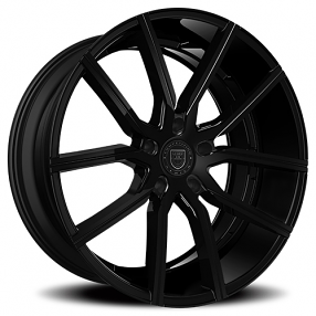 "20"" Staggered Lexani Wheels Gravity Gloss Black Rims"