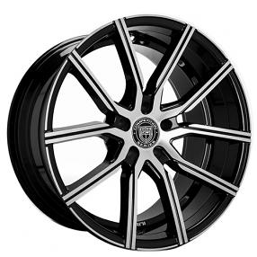 "22"" Lexani Wheels Gravity Black Machined Rims"