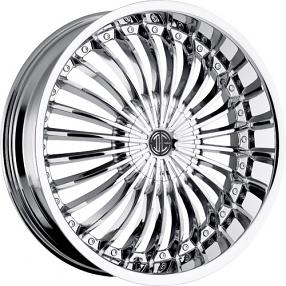 """20x8.5"""" 2Crave Wheels No.13 Chrome Rims"""