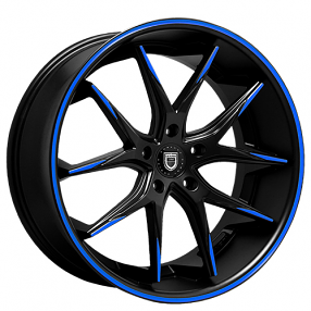 "22"" Staggered Lexani Wheels R-Twelve Custom Color Rims"