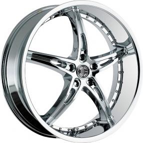 """22x8.5"""" 2Crave Wheels No.14 Chrome Rims"""