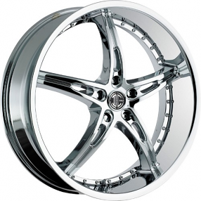 "22"" Staggered 2Crave Wheels No.14 Chrome Rims"