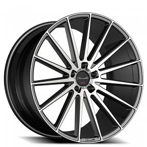 "24"" Giovanna-Gianelle Wheels Verdi Black Machied Rims"