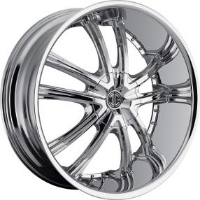 """22x8.5"""" 2Crave Wheels No.24 Chrome Rims"""