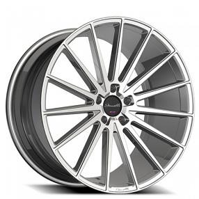 "24"" Giovanna-Gianelle Wheels Verdi Silver Machined Rims"