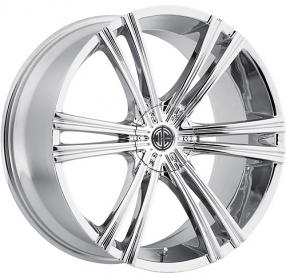 """22"""" 2Crave Wheels No.28 Chrome Rims"""