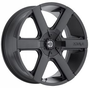 "24"" 2Crave Wheels No.31 Satin Black Rims"