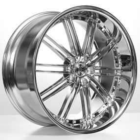 "22"" Staggered 2Crave Wheels No.33 Chrome Rims"
