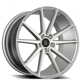 "22"" Staggered Giovanna-Koko kuture Wheels Le Mans Silver Machined Rims"