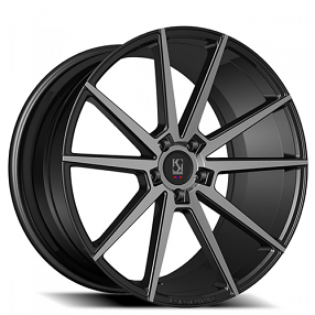 "22"" Staggered Giovanna-Koko kuture Wheels Le Mans Black Smoked Rims"
