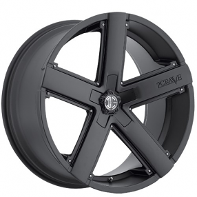 "20"" Staggered 2Crave Wheels No.35 Satin Black Rims"