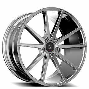 "22"" Staggered Giovanna-Koko kuture Wheels Le Mans Chrome Rims"