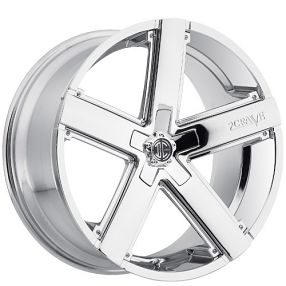 "20"" Staggered 2Crave Wheels No.35 Chrome Rims (5x112/5x120, +35mm/+40mm)"