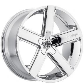 """22"""" 2Crave Wheels No.35 Chrome Rims"""