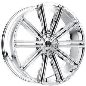 """22x8.5"""" 2Crave Wheels No.37 Chrome Rims"""
