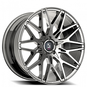 "22"" Staggered Giovanna-Koko kuture Wheels Funen Chrome Rims"