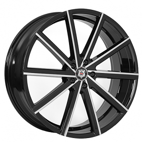 "22x8.5"" Versante-Sevizia Wheels SE433 Black Machined Rims"