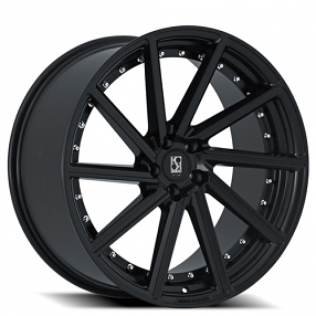 "22"" Staggered Giovanna-Koko kuture Wheels Surrey Black Rims"