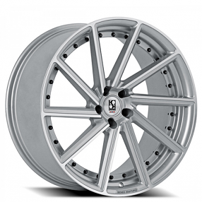 "22"" Staggered Giovanna-Koko kuture Wheels Surrey Silver Machined Rims"