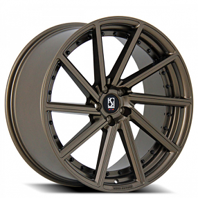 "22"" Staggered Giovanna-Koko kuture Wheels Surrey Bronze Rims"