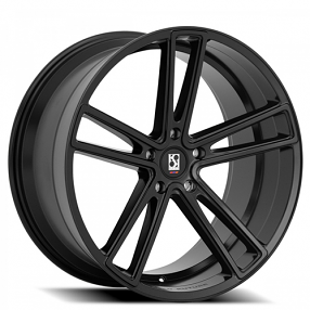 "22"" Staggered Giovanna-Koko kuture Wheels Massa-5 Black Rims"