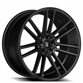 "22"" Staggered Giovanna-Koko kuture Wheels Massa-7 Black Rims"
