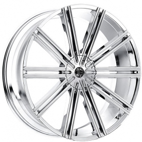 "26"" 2Crave Wheels No.47 Chrome Rims"