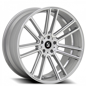 "22"" Staggered Giovanna-Koko kuture Wheels Massa-7 Silver Machined Rims"