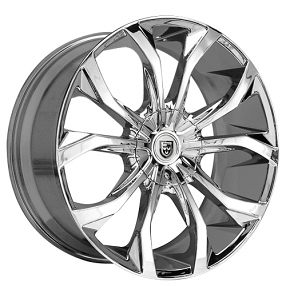 "20x8.5"" Lexani Wheels Lust Chrome Rims"