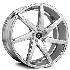 """22"""" Staggered Lexani Wheels CSS-7 Chrome Rims"""
