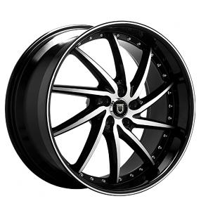 "20"" Staggered Lexani Wheels Artemis Black Machined Rims"