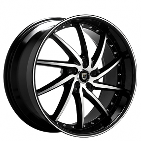 "22"" Staggered Lexani Wheels Artemis Black Machined Rims"