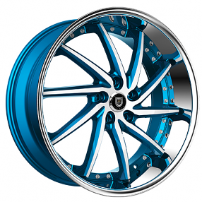 "22"" Staggered Lexani Wheels Artemis Custom Color Rims"