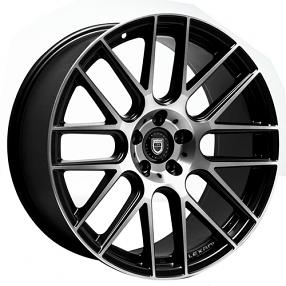 "22"" Lexani Wheels CSS-8 Black Machined Rims"