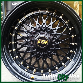 "17"" ESR Wheels SR03 Black JDM Style Rims"