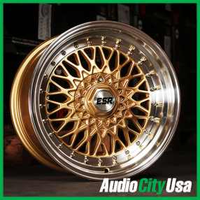 "17"" ESR Wheels SR03 Gold JDM Style Rims"