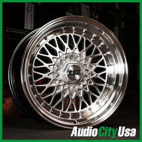 "17"" ESR Wheels SR03 Machined JDM Style Rims"