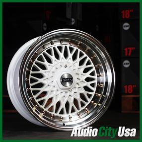"""17"""" ESR Wheels SR03 White JDM Style Rims"""