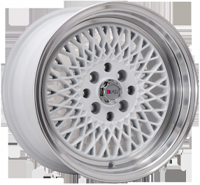 "16"" F1R Wheels F01 White JDM Style Rims"