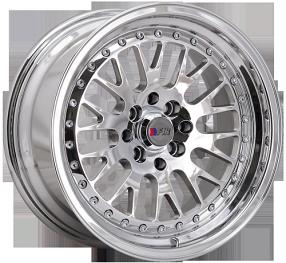 "16"" F1R Wheels F02 Chrome JDM Style Rims"