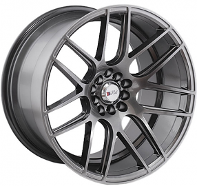 "18"" F1R Wheels F18 Hyper Black Rims"